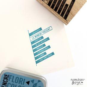 Commandez Tampon bois BOUTS DE PHRASES Florilèges Design. Livraison rapide et cadeau dans chaque commande.
