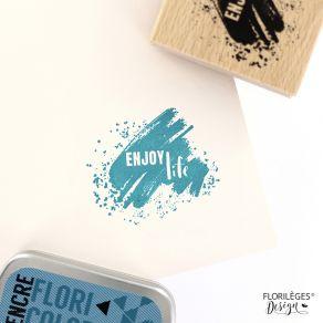 Tampon bois ENJOY BRUSH par Florilèges Design. Scrapbooking et loisirs créatifs. Livraison rapide et cadeau dans chaque comma...