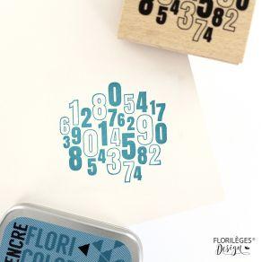 PROMO de -99.99% sur Tampon bois DES CHIFFRES Florilèges Design