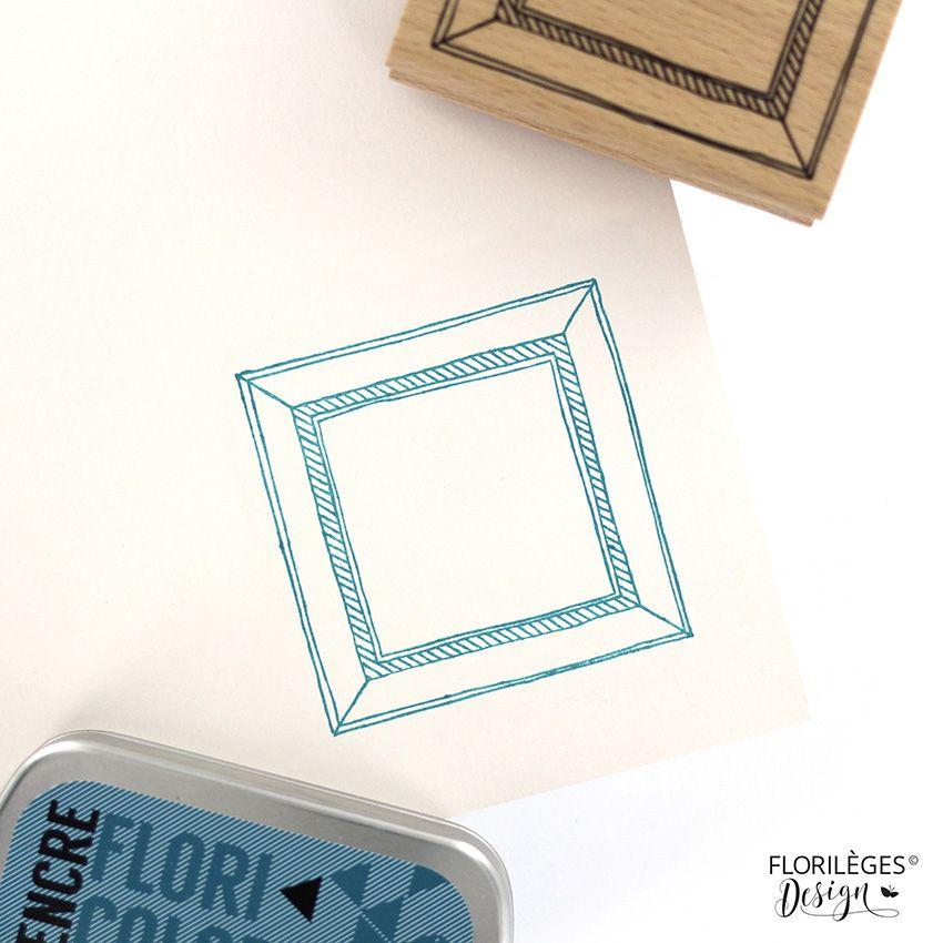 Tampon bois CADRE CARRÉ par Florilèges Design. Scrapbooking et loisirs créatifs. Livraison rapide et cadeau dans chaque comma...