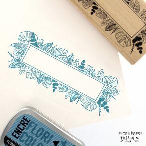 Tampon bois BANDEAU DE FEUILLES par Florilèges Design. Scrapbooking et loisirs créatifs. Livraison rapide et cadeau dans chaq...