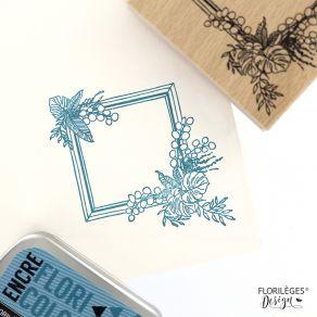 Tampon bois CADRE À FEUILLES par Florilèges Design. Scrapbooking et loisirs créatifs. Livraison rapide et cadeau dans chaque ...