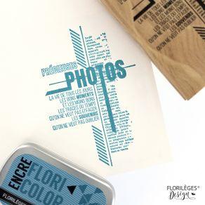 Tampon bois TRACES DU TEMPS par Florilèges Design. Scrapbooking et loisirs créatifs. Livraison rapide et cadeau dans chaque c...