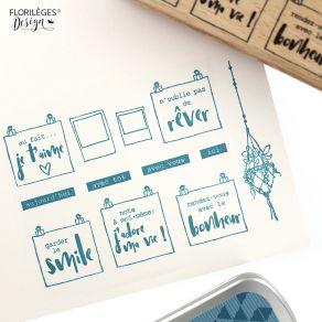 Tampon bois POUR MON BOARD par Florilèges Design. Scrapbooking et loisirs créatifs. Livraison rapide et cadeau dans chaque co...