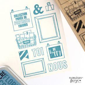 Tampon bois PHOTOS SOUVENIRS par Florilèges Design. Scrapbooking et loisirs créatifs. Livraison rapide et cadeau dans chaque ...