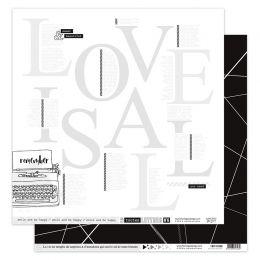 Papier imprimé EN TOUTES LETTRES 6 par Florilèges Design. Scrapbooking et loisirs créatifs. Livraison rapide et cadeau dans c...