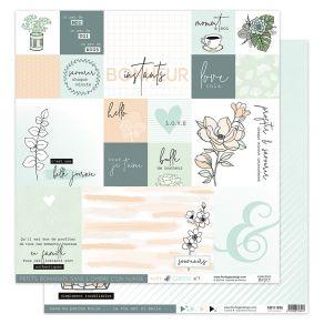 Papier imprimé SOFT & GREEN 1 par Florilèges Design. Scrapbooking et loisirs créatifs. Livraison rapide et cadeau dans chaque...