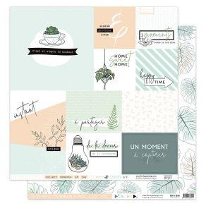 Papier imprimé SOFT & GREEN 2 par Florilèges Design. Scrapbooking et loisirs créatifs. Livraison rapide et cadeau dans chaque...