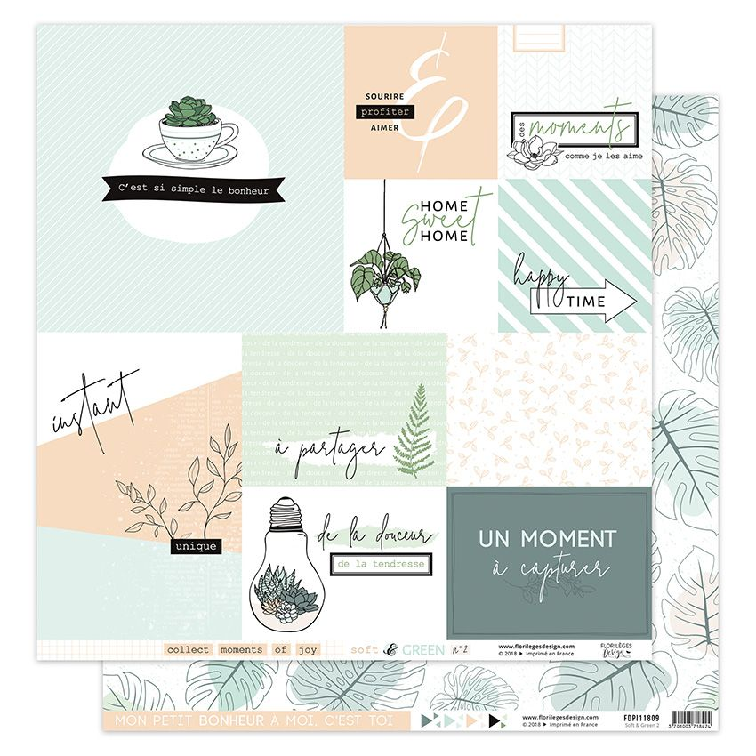 Papier imprimé SOFT & GREEN 2