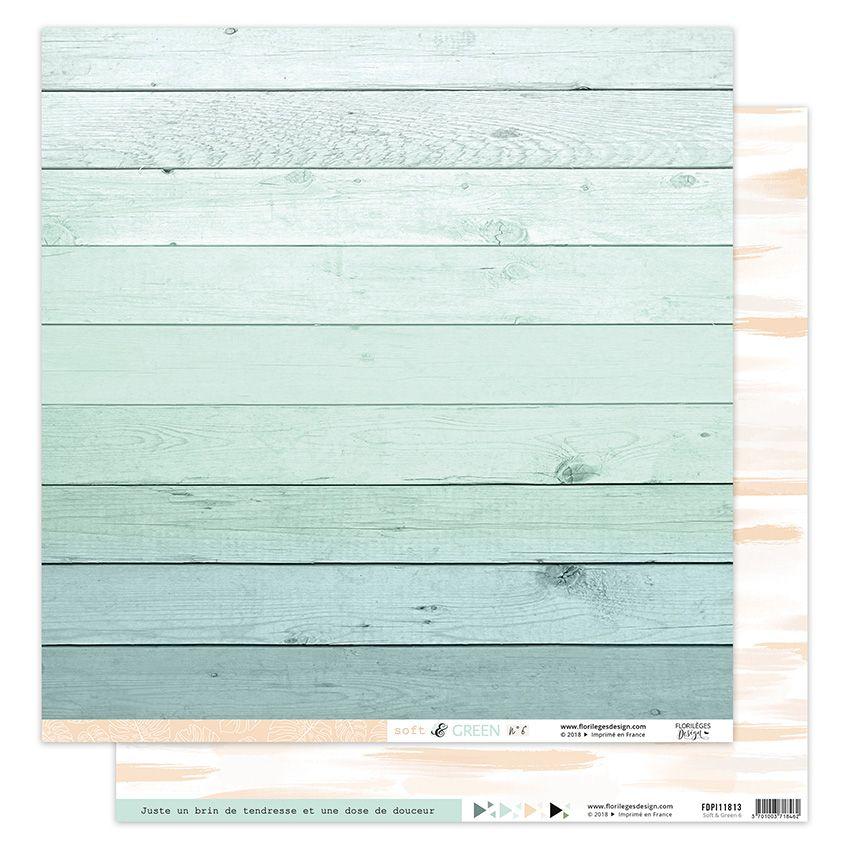 Papier imprimé SOFT & GREEN 6 par Florilèges Design. Scrapbooking et loisirs créatifs. Livraison rapide et cadeau dans chaque...