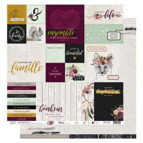 Papier imprimé GYPSY FOREST 3 par Florilèges Design. Scrapbooking et loisirs créatifs. Livraison rapide et cadeau dans chaque...
