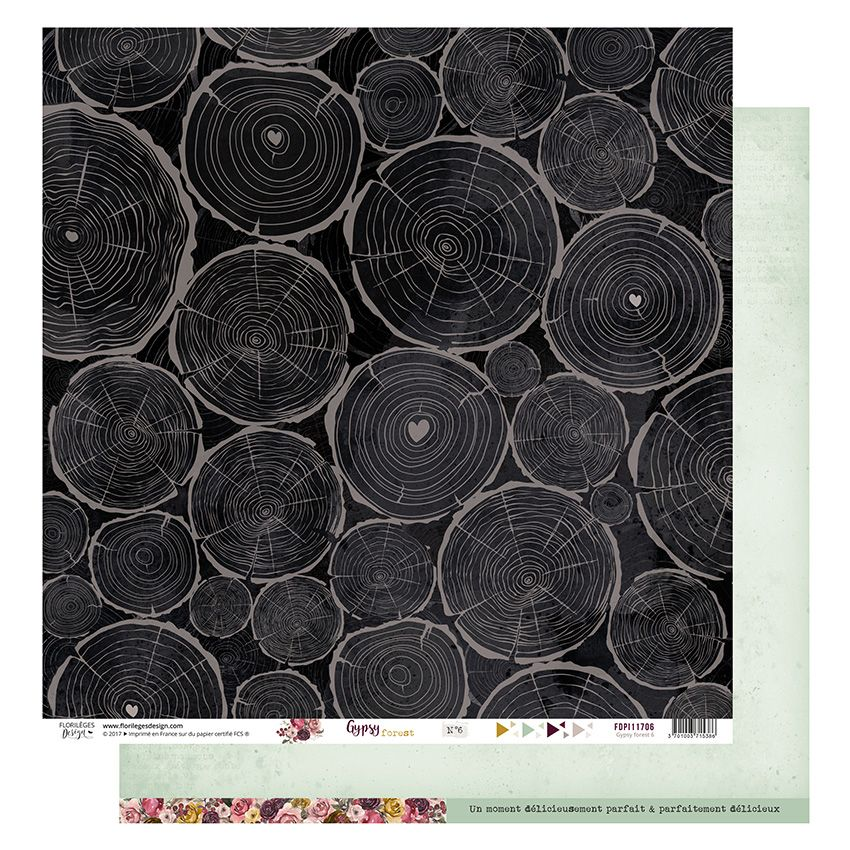 Papier imprimé GYPSY FOREST 6 par Florilèges Design. Scrapbooking et loisirs créatifs. Livraison rapide et cadeau dans chaque...