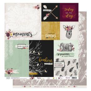 Parfait pour créer : Papier imprimé GYPSY FOREST 1 par Florilèges Design. Livraison rapide et cadeau dans chaque commande.