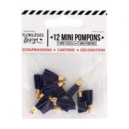 Mini pompons OUTREMER par Florilèges Design. Scrapbooking et loisirs créatifs. Livraison rapide et cadeau dans chaque commande.
