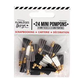 Mini pompons EN TOUTES LETTRES par Florilèges Design. Scrapbooking et loisirs créatifs. Livraison rapide et cadeau dans chaqu...