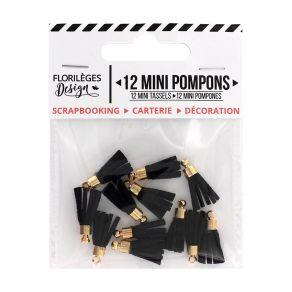 Mini pompons CARBONE