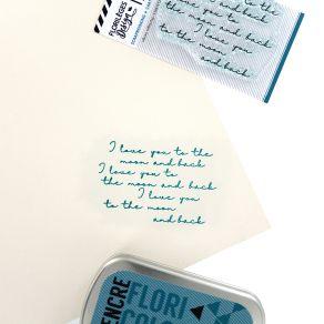 Tampon clear I LOVE YOU par Florilèges Design. Scrapbooking et loisirs créatifs. Livraison rapide et cadeau dans chaque comma...