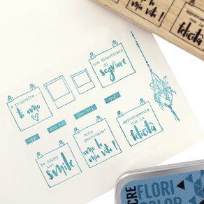 Tampon bois italien LA MIA BACHECA par Florilèges Design. Scrapbooking et loisirs créatifs. Livraison rapide et cadeau dans c...