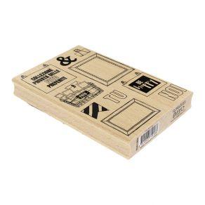 Tampon bois italien FOTO RICORDO par Florilèges Design. Scrapbooking et loisirs créatifs. Livraison rapide et cadeau dans cha...