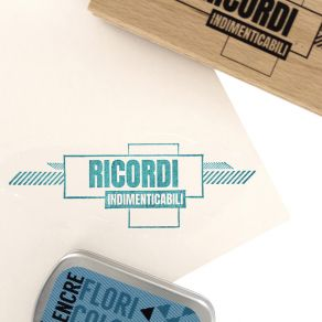 Tampon bois italien RICORDI INDIMENTICABILI par Florilèges Design. Scrapbooking et loisirs créatifs. Livraison rapide et cade...
