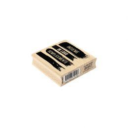 Tampon bois italien QUATTRO TRACCE par Florilèges Design. Scrapbooking et loisirs créatifs. Livraison rapide et cadeau dans c...
