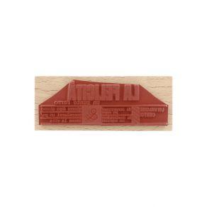 Tampon bois italien UN PUNTO FERMO par Florilèges Design. Scrapbooking et loisirs créatifs. Livraison rapide et cadeau dans c...