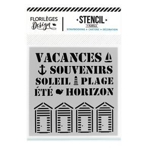 Pochoir SOUVENIRS D'ÉTÉ par Florilèges Design. Scrapbooking et loisirs créatifs. Livraison rapide et cadeau dans chaque comma...