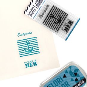 Tampons clear EN BORD DE MER par Florilèges Design. Scrapbooking et loisirs créatifs. Livraison rapide et cadeau dans chaque ...
