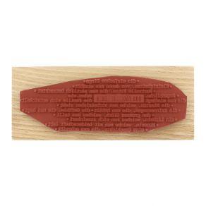 Tampon bois allemand DAS LEBEN ZIEHT VORBEI par Florilèges Design. Scrapbooking et loisirs créatifs. Livraison rapide et cade...
