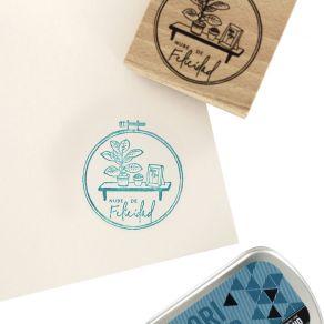 Tampon bois espagnol NUBE DE FELICIDAD par Florilèges Design. Scrapbooking et loisirs créatifs. Livraison rapide et cadeau da...