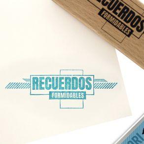 Tampon bois espagnol RECUERDOS FORMIDABLES par Florilèges Design. Scrapbooking et loisirs créatifs. Livraison rapide et cadea...