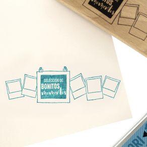 Tampon bois espagnol SELECCIÓN DE MOMENTOS par Florilèges Design. Scrapbooking et loisirs créatifs. Livraison rapide et cadea...