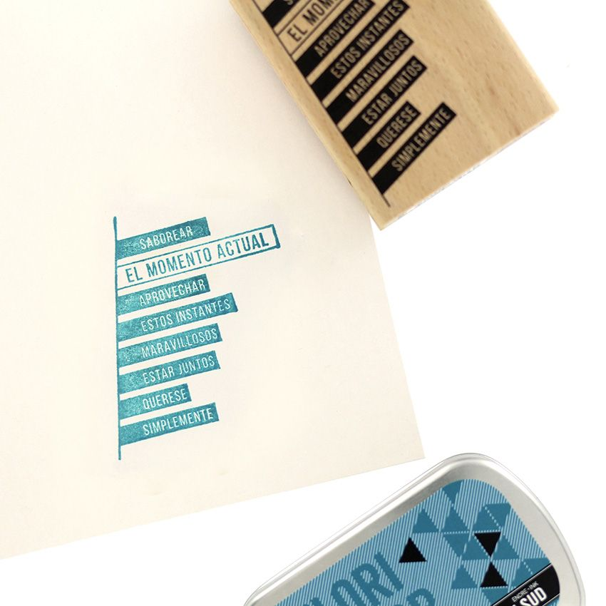 Tampon bois espagnol TROZOS DE FRASES par Florilèges Design. Scrapbooking et loisirs créatifs. Livraison rapide et cadeau dan...