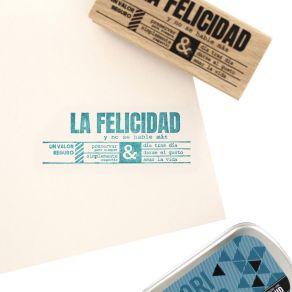 Tampon bois espagnol NO SE HABLE MÁS par Florilèges Design. Scrapbooking et loisirs créatifs. Livraison rapide et cadeau dans...