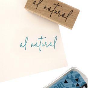 Tampon bois espagnol NATURALMENTE par Florilèges Design. Scrapbooking et loisirs créatifs. Livraison rapide et cadeau dans ch...