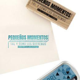 Tampon bois espagnol TAL Y COMO LOS QUEREMOS par Florilèges Design. Scrapbooking et loisirs créatifs. Livraison rapide et cad...