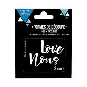 Outils de découpe LOVE NOUS par Florilèges Design. Scrapbooking et loisirs créatifs. Livraison rapide et cadeau dans chaque c...