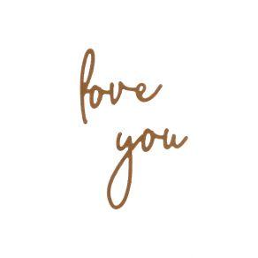 Outils de découpe YOU LOVE par Florilèges Design. Scrapbooking et loisirs créatifs. Livraison rapide et cadeau dans chaque co...
