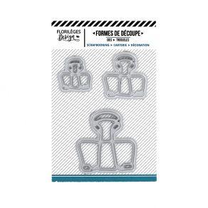 Outils de découpe TROIS CLIPS par Florilèges Design. Scrapbooking et loisirs créatifs. Livraison rapide et cadeau dans chaque...