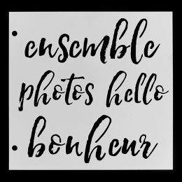 Pochoir QUATRE MOTS par Florilèges Design. Scrapbooking et loisirs créatifs. Livraison rapide et cadeau dans chaque commande.