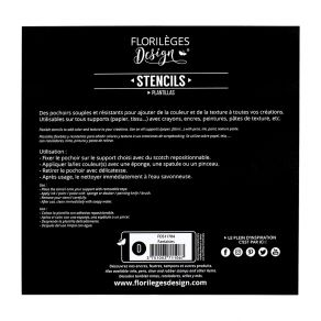 Commandez Pochoirs FANTAISIES Florilèges Design. Livraison rapide et cadeau dans chaque commande.