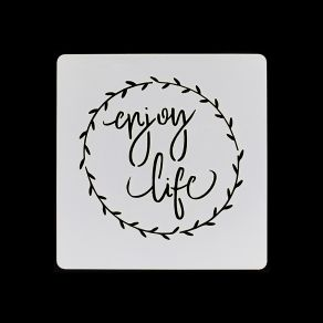 PROMO de -99.99% sur Pochoir ENJOY LIFE Florilèges Design