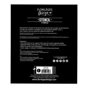 Pochoir LACETS PERLÉS par Florilèges Design. Scrapbooking et loisirs créatifs. Livraison rapide et cadeau dans chaque commande.