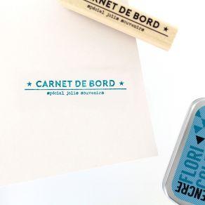 PROMO de -20% sur Tampon bois CARNET DE SOUVENIRS Florilèges Design