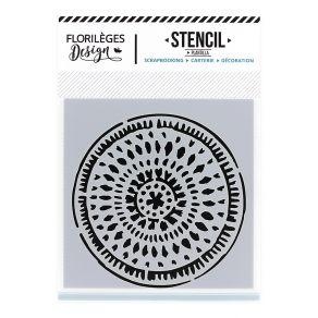 Pochoir CERCLE ETHNIQUE par Florilèges Design. Scrapbooking et loisirs créatifs. Livraison rapide et cadeau dans chaque comma...