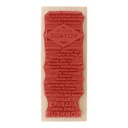 Tampon bois AU FIL DU VOYAGE par Florilèges Design. Scrapbooking et loisirs créatifs. Livraison rapide et cadeau dans chaque ...