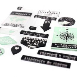 Décos INVITATION AU VOYAGE par Florilèges Design. Scrapbooking et loisirs créatifs. Livraison rapide et cadeau dans chaque co...