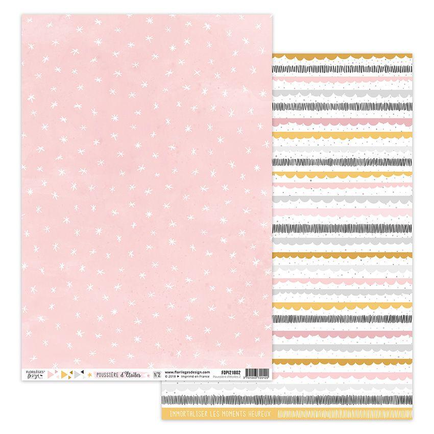 Papier imprimé POUSSIÈRE D'ÉTOILES 2 par Florilèges Design. Scrapbooking et loisirs créatifs. Livraison rapide et cadeau dans...
