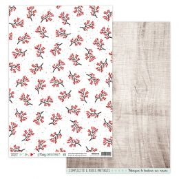 Papier imprimé COSY CHRISTMAS 3 par Florilèges Design. Scrapbooking et loisirs créatifs. Livraison rapide et cadeau dans chaq...