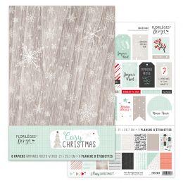 Kit COSY CHRISTMAS par Florilèges Design. Scrapbooking et loisirs créatifs. Livraison rapide et cadeau dans chaque commande.